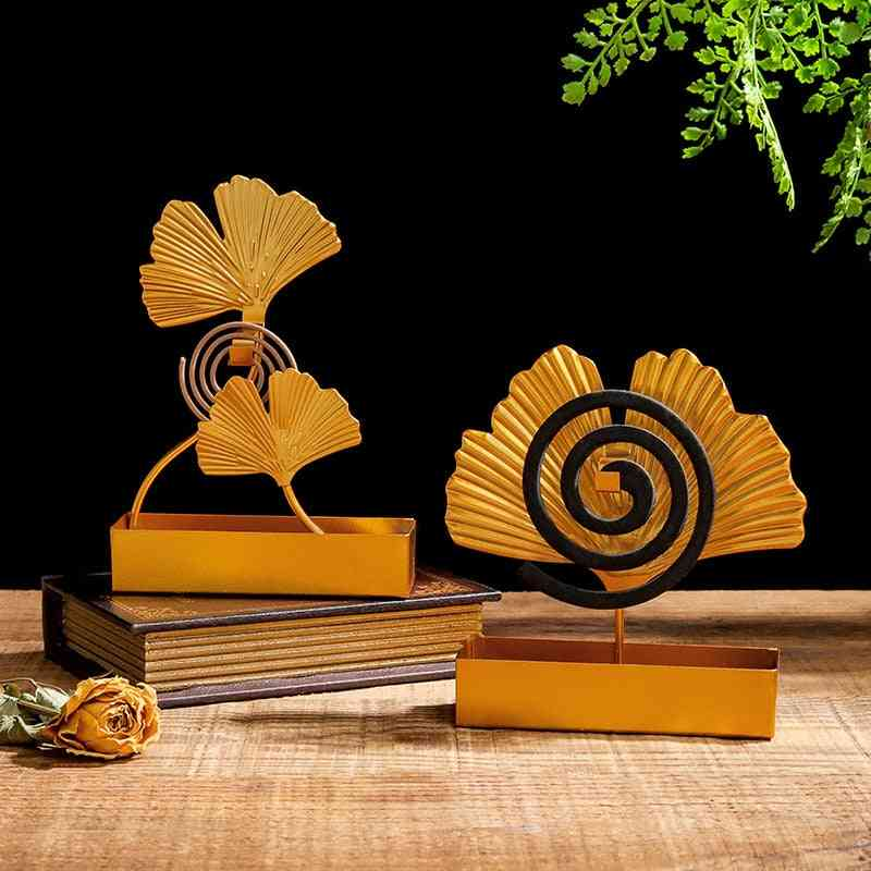 Ginkgo Leaf Mosquito Coil Holder
