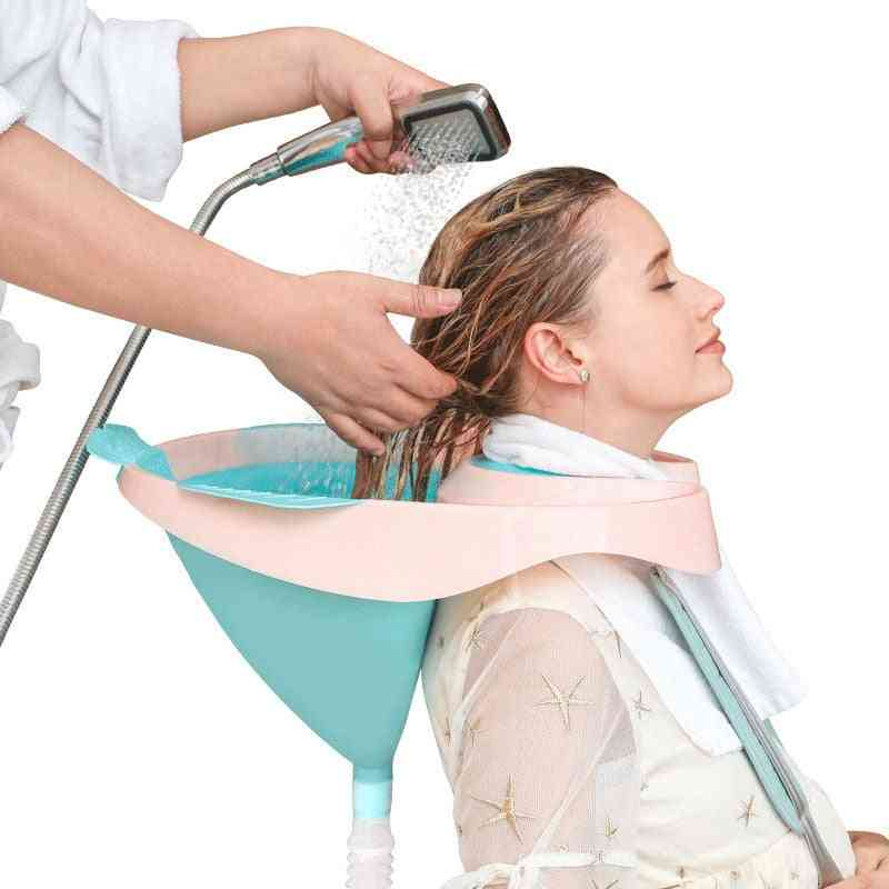 Shampoo Tool For Maternity Portable Foldable Sink With Hose Easy Washing Hair