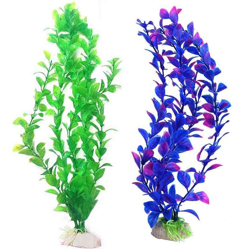 Live Fish Aquarium Green Artificial Water Plants