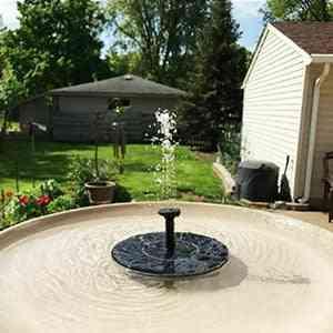 Solar Panel Powered Water Pump Garden Decoration Bird Bath