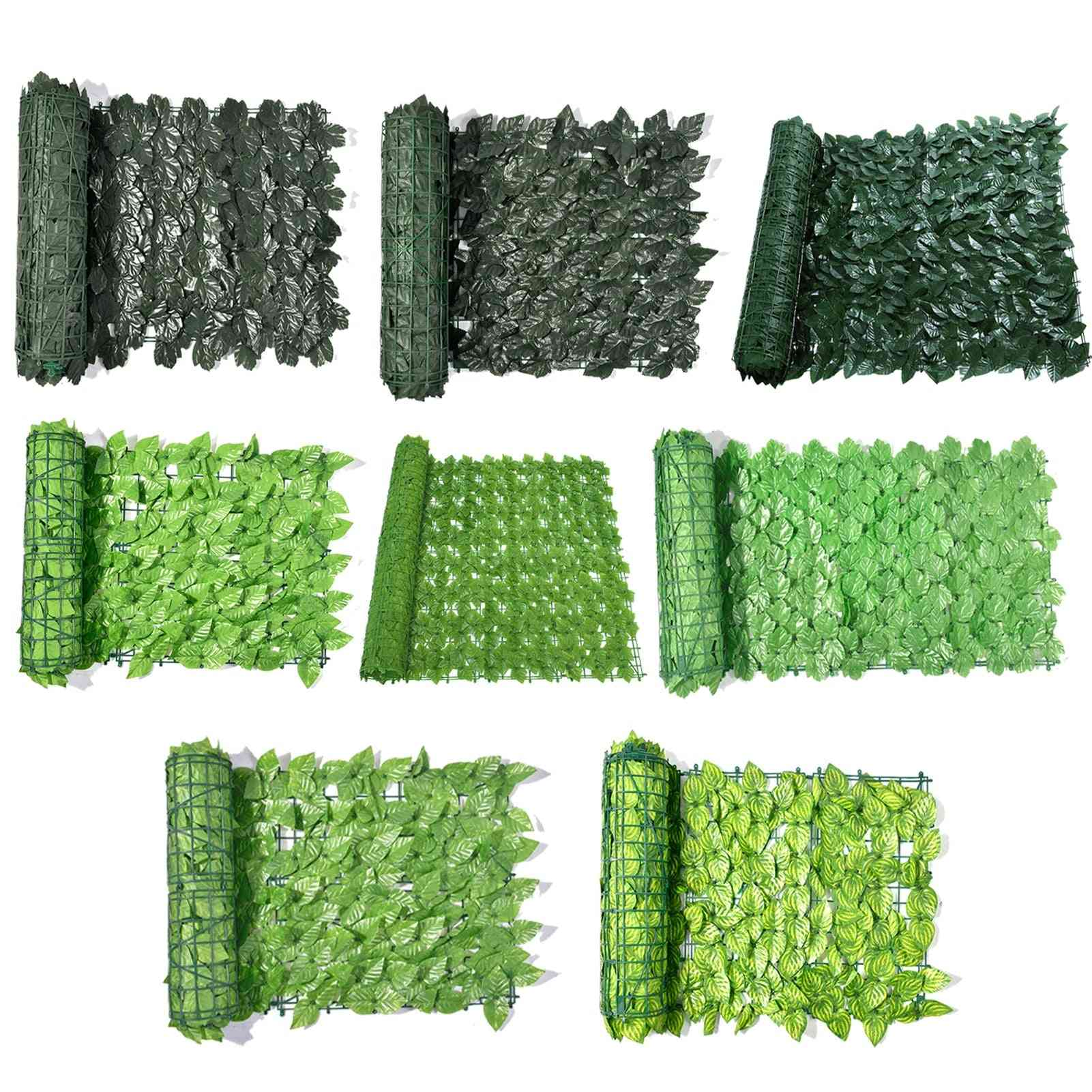 Artificial Ivy Hedge Screening Roll Green Leaf