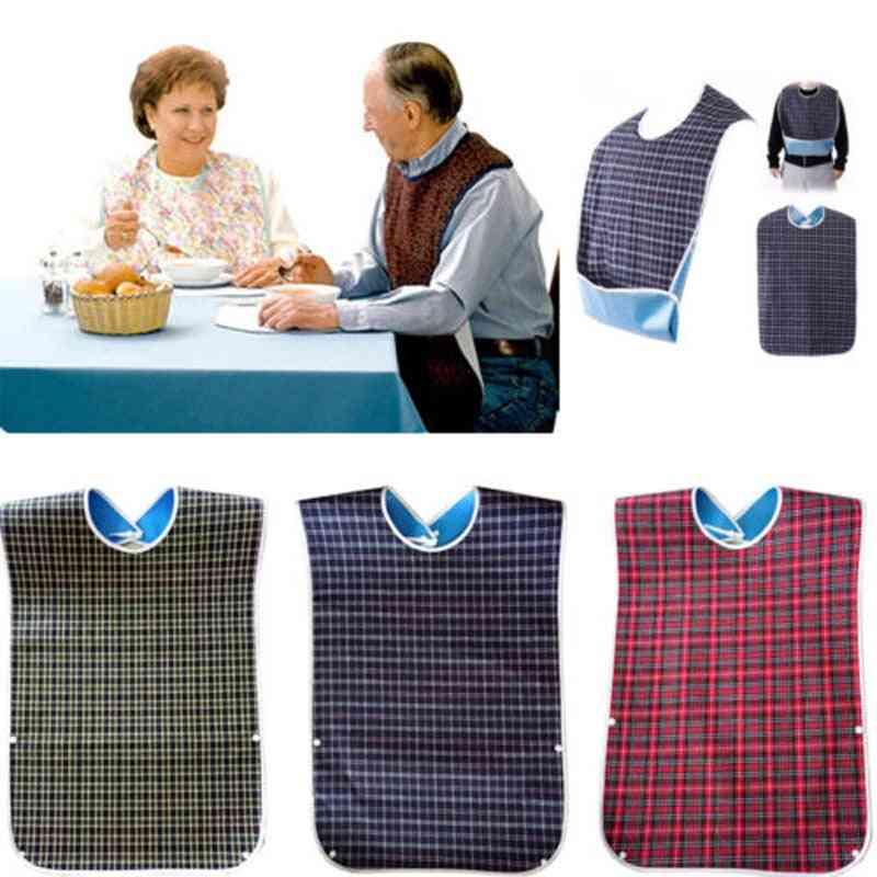 Bib Cloth Protector Waterproof Fabric Apron Crumb Catcher