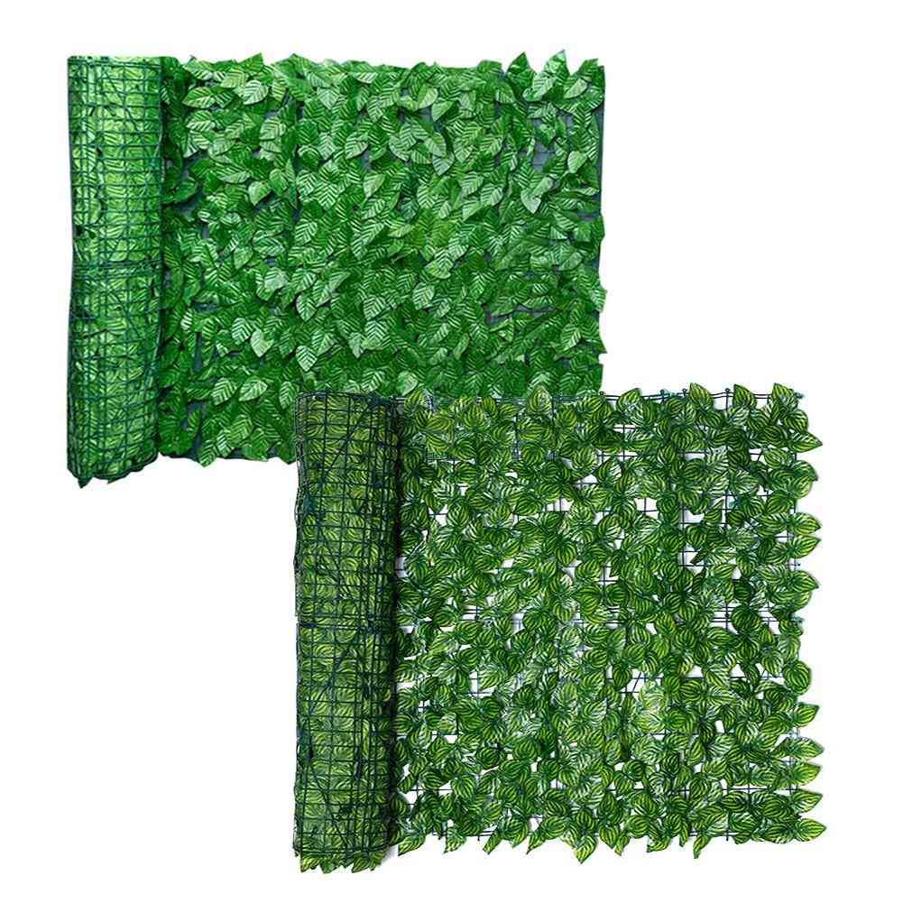 Artificial Leaf Privacy Fence