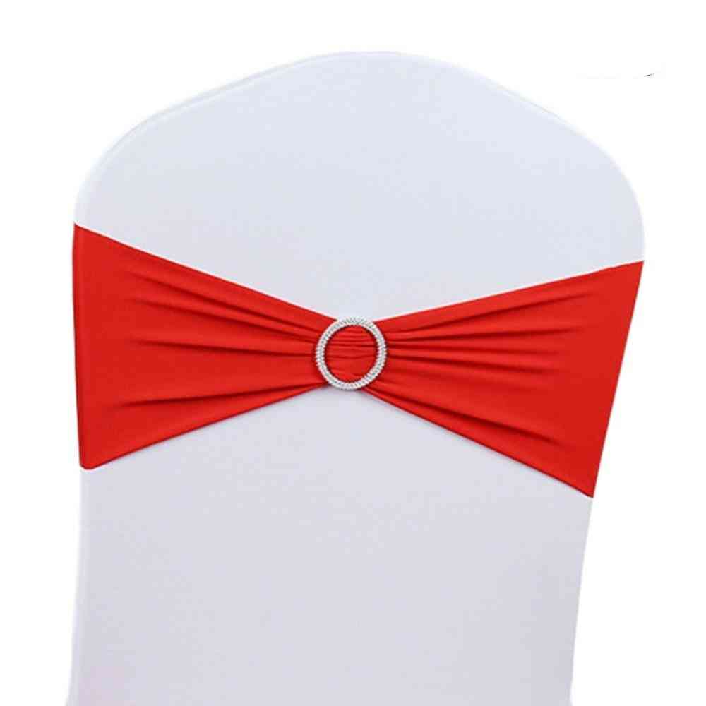 Stretch Wedding Belt Chair Cover Band With Buckle