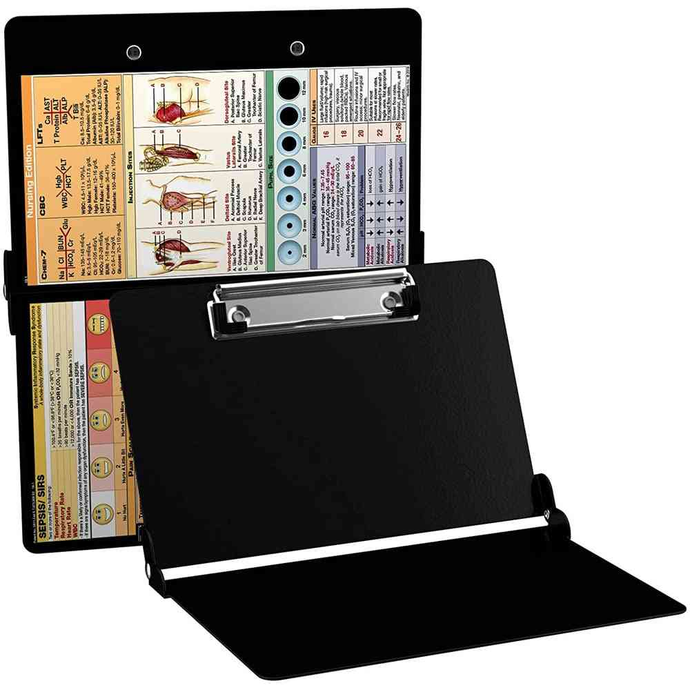 Nursing Clipboard With Quick Reference Sheet Writing Pad