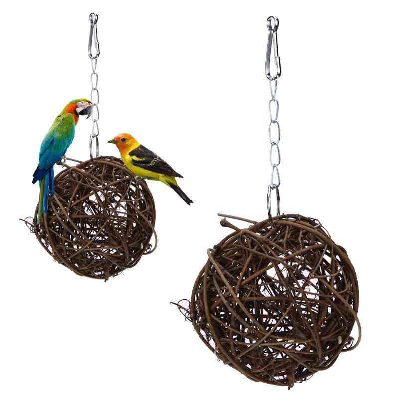 Bird Branch Rattan Balls Cages