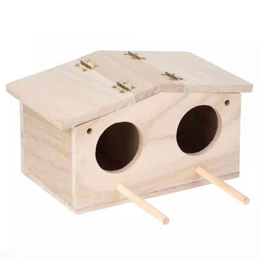 Wooden Pet Bird Nests House Breeding Cage