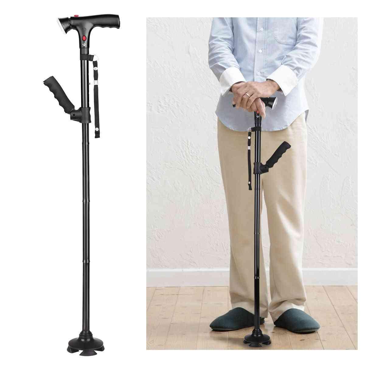Led Telescopic Elderly Collapsible Cane, Walking Led Sticks
