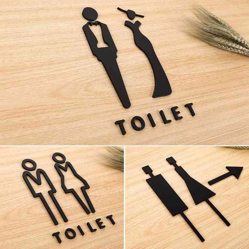 Men Women 3d Creative Signage Number Acrylic Toilet Sign