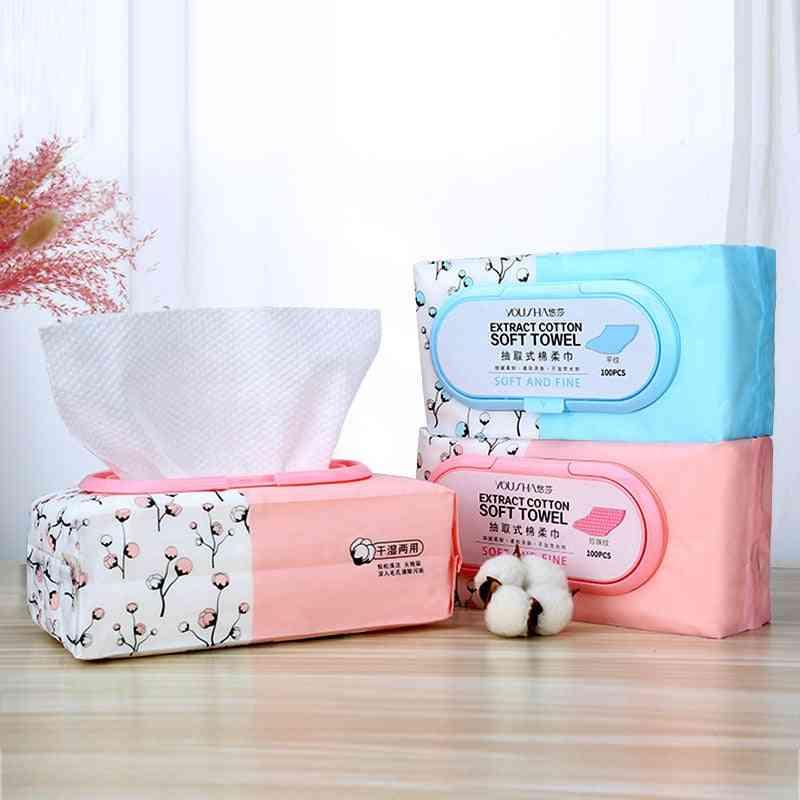 100pcs/ Pack Pearl Pattern Facial Wash Towel