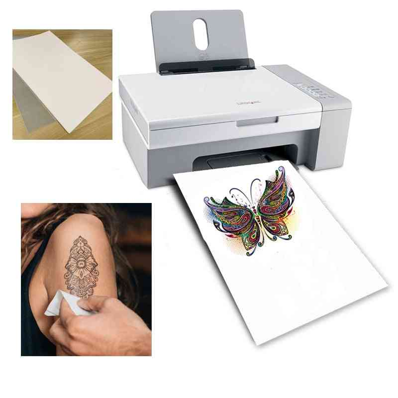 Tattoo Paper Diy, Yourself Temporary, Paper Use For Inkjet Or Laser, Printing Printers