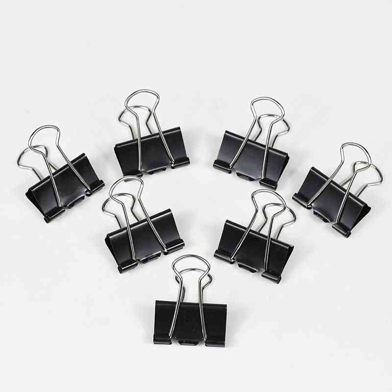 Metal Binder Clips, Home, Office, Books File Paper Organizer Clip, Clamping Force, Easy Classification