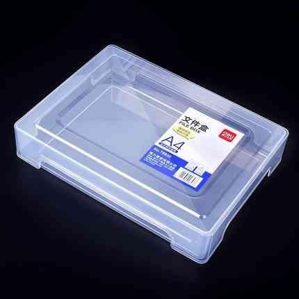A4 Plastic Transparent Portable File Box, Moisture-proof, Portable Data Box