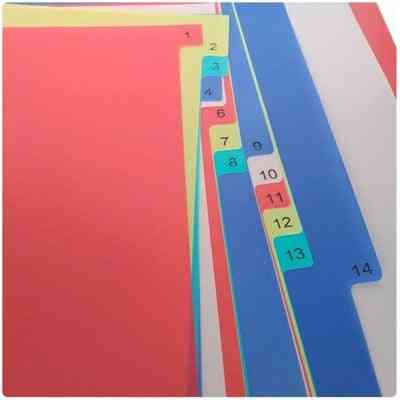 Plastic File Index Paper Label, Classified Card