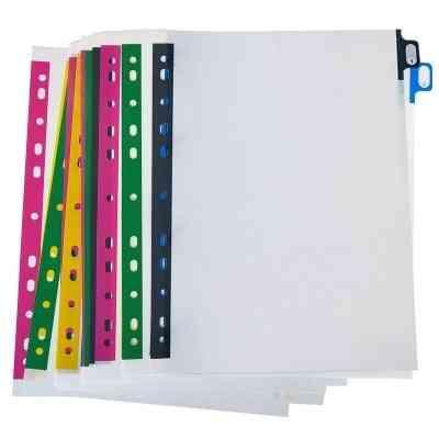 A4 Label Separator Index Paper, Plastic Loose-leaf File Marking Sorting