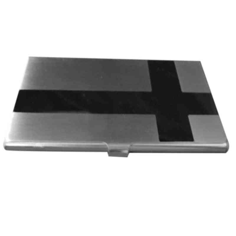Stainless Steel Box Cross Glossy Transmission Box, Business Credit Card Holder