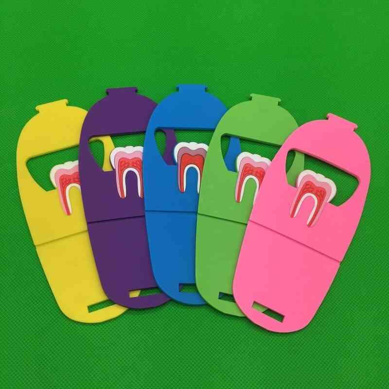 Colorful Rubber Teeth Molar Shape Phone Card Holder