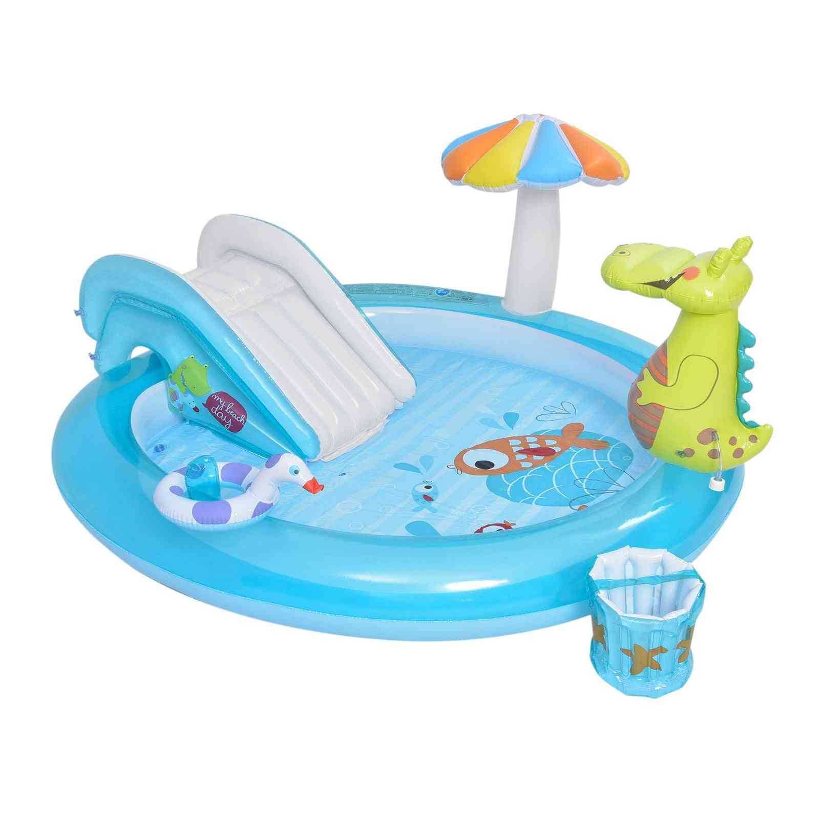 Inflatable Play Center Blow Up Swimming Pool Inflatable Play Center Kids Water Fun Pool