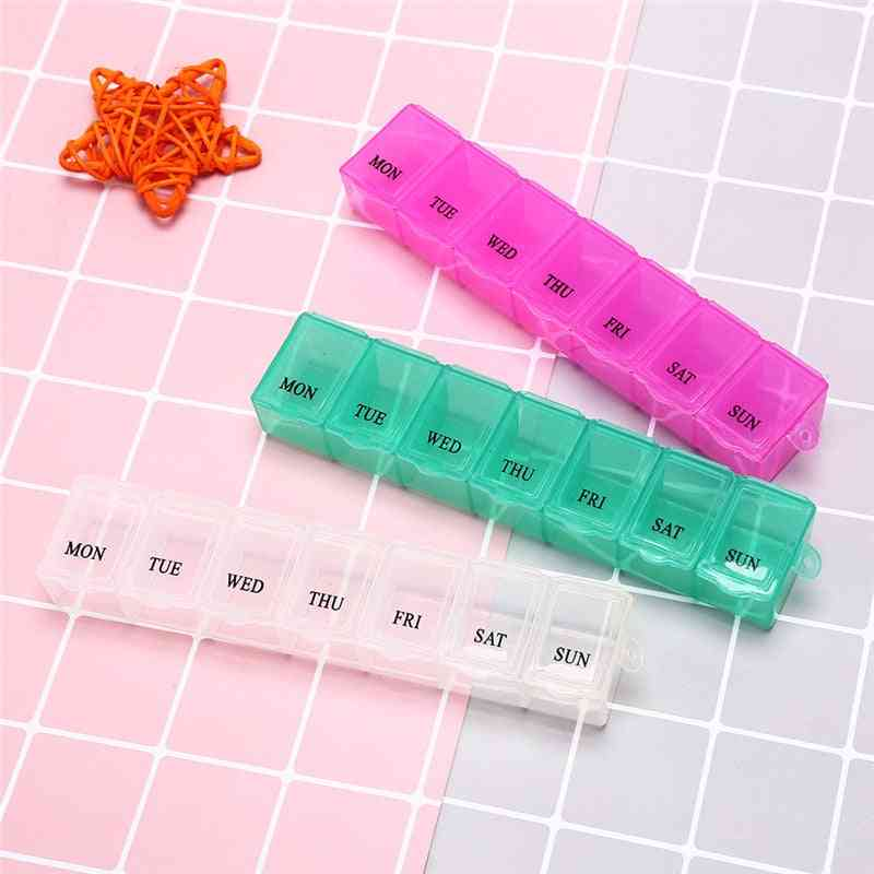 1pc 7 Days Pill Medicine Box Weekly Tablet