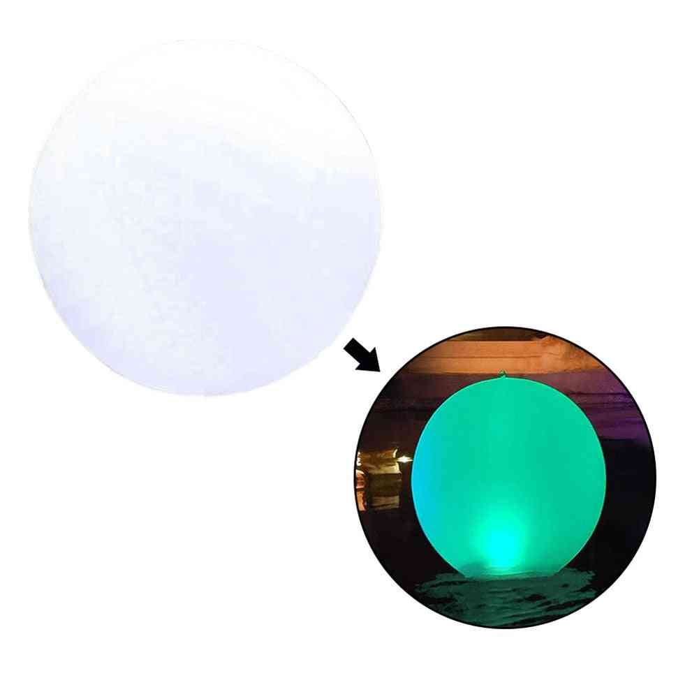 Glowing Beach Ball Remote Control Led Light Swimming Pool Toy