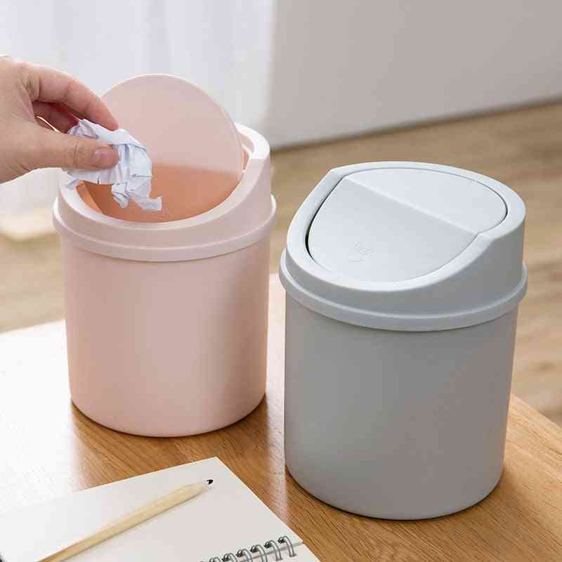 New Arrival Mini Trash Can Desktop Bin Garbage Box