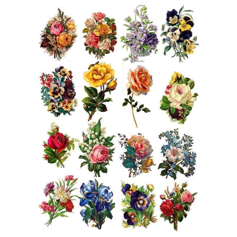 Spring Colorful Flower Decoration, Planner Diy Sticker, Album Notebook Agenda Toy, Scrapbooking