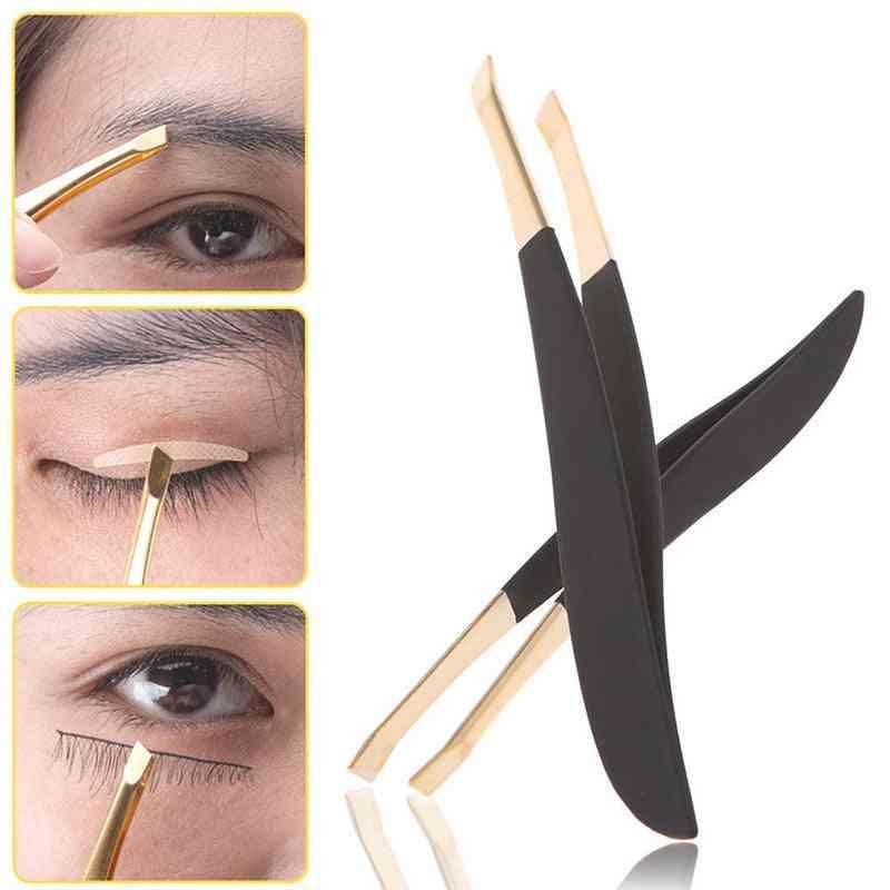 Professional Stainless Steel Hair Removal Eye Brow Tweezers