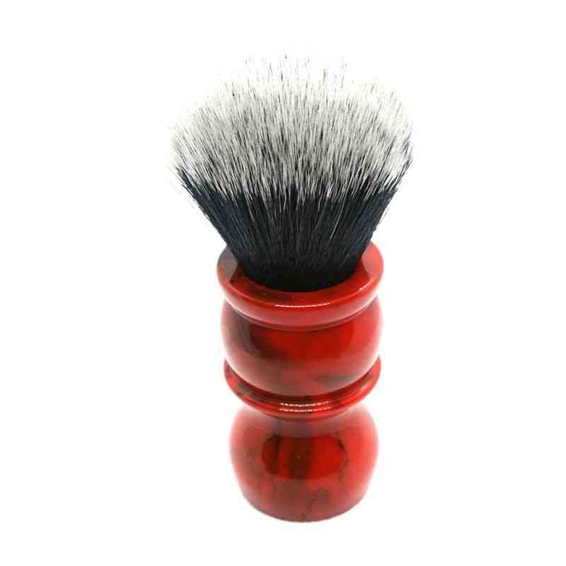 Red Marble Men's Synthetic Hair Beard Brush