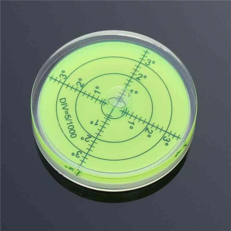 Precision Bubble Spirit Level, Round Circular Bullseye, Rv Leveler Camper For Instruments