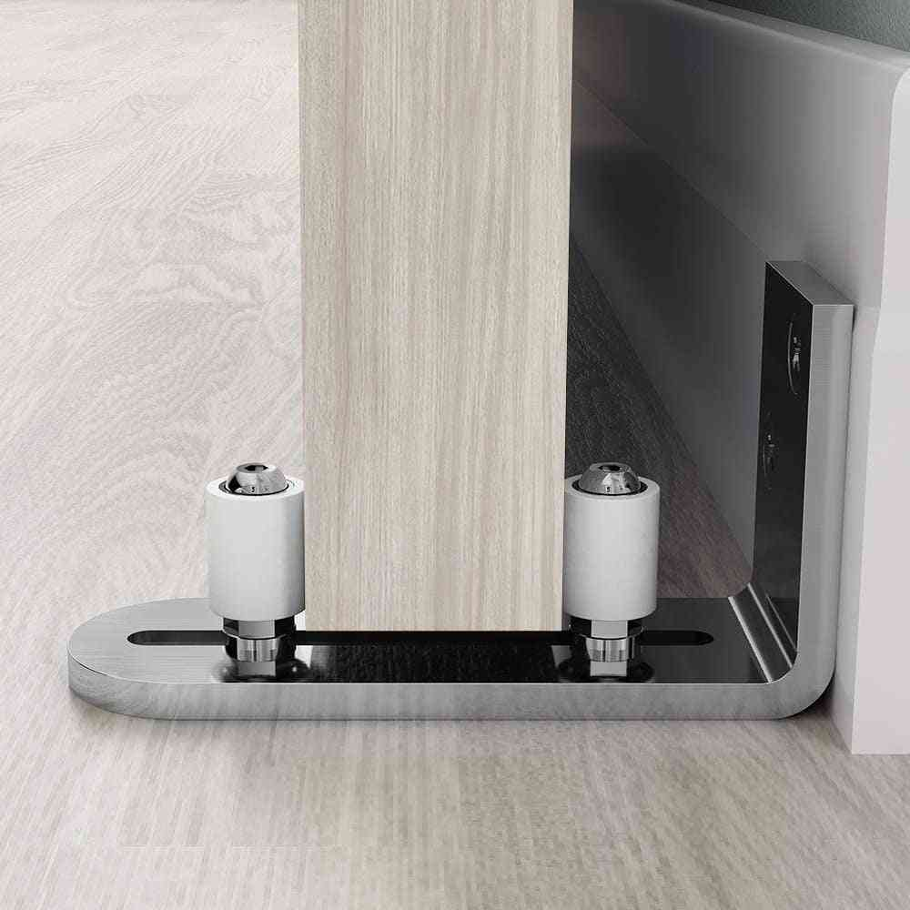 Chrome Plated Floor Guide Sliding Barn Door