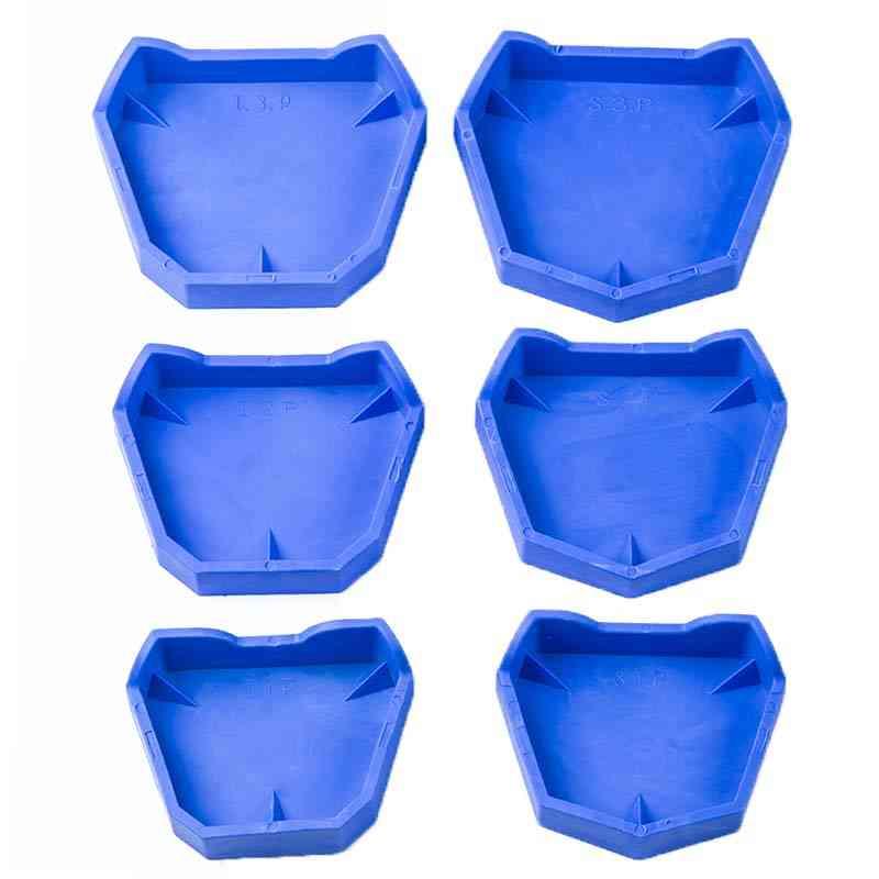 6pcs/set Dental Model Base Set Dental Mold Plaster Base