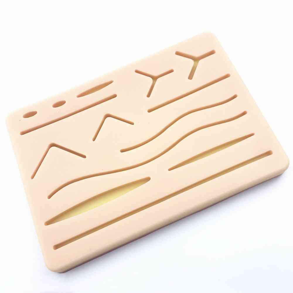 Y Traumatic Skin Suture Training Model Pad With Wound Silicone Suture