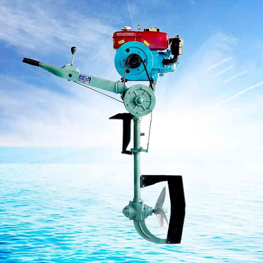 Horsepower Water/air-cooled Diesel Outboard Engine Motor For Outdoor Fishing With Electric/hand Start