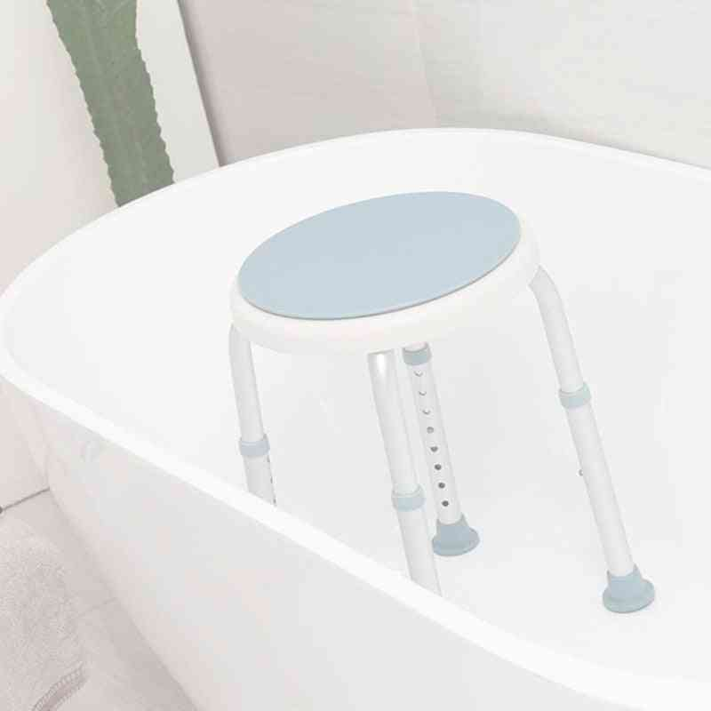 Adjustable Rotating Shower Chair Stool, Bathtub Seat Bench With Anti-slip Rubber Tips