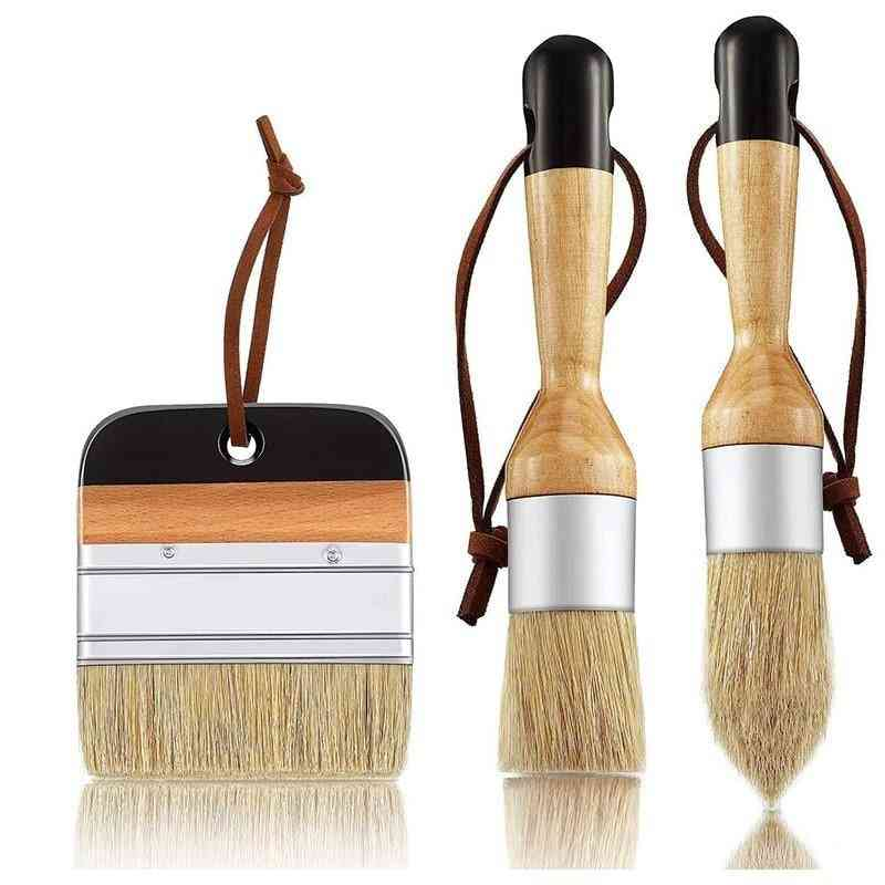 Chalk And Wax Paint  Bristle Stencil Brushes