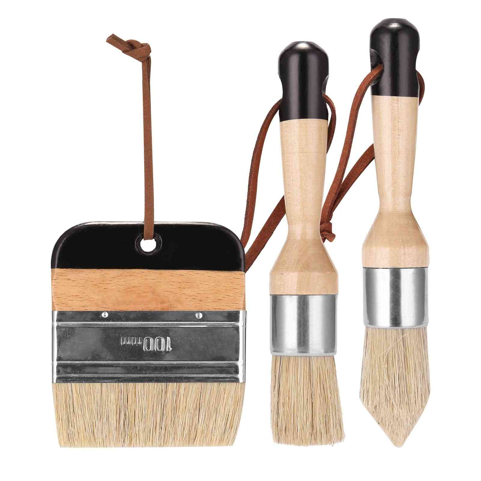Chalk Wax Paint Bristle Stencil Brushes