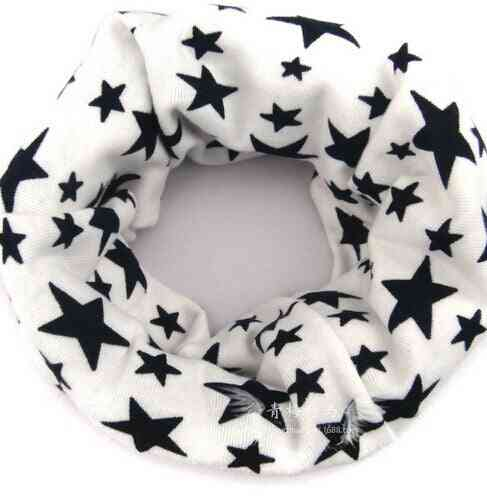 Children Outdoor Scarves Warm Magic Bandanas Print Cotton Scarf Ring 5