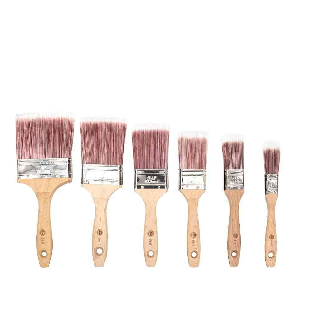 Wooden Handle Household Bristle Paint Brushes