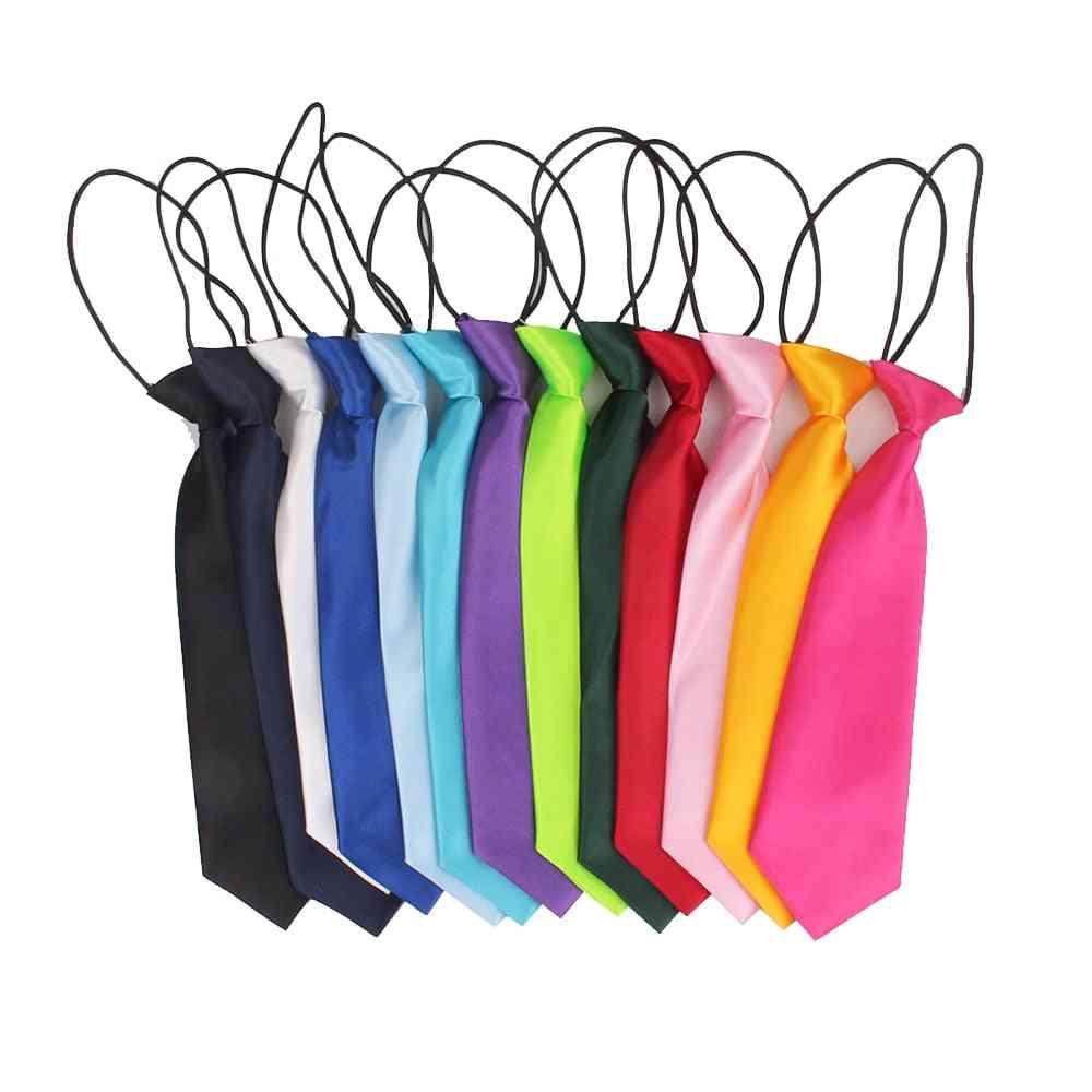 Boys Ties Casual Solid Necktie Suits Students Tie Slim Necktie