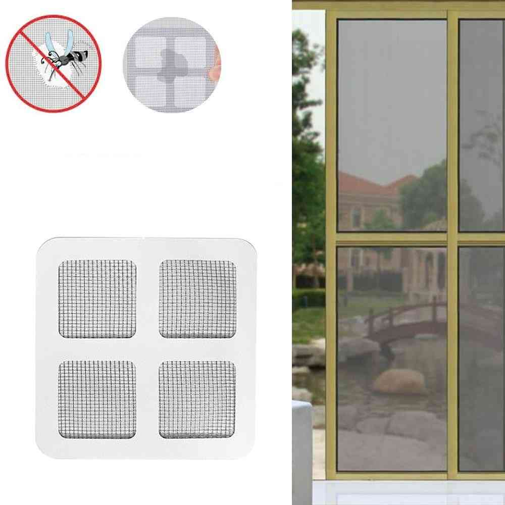 Net Window Adhesive Mosquito Fly Bug Insect Repair Screen Wall Patch Stickers
