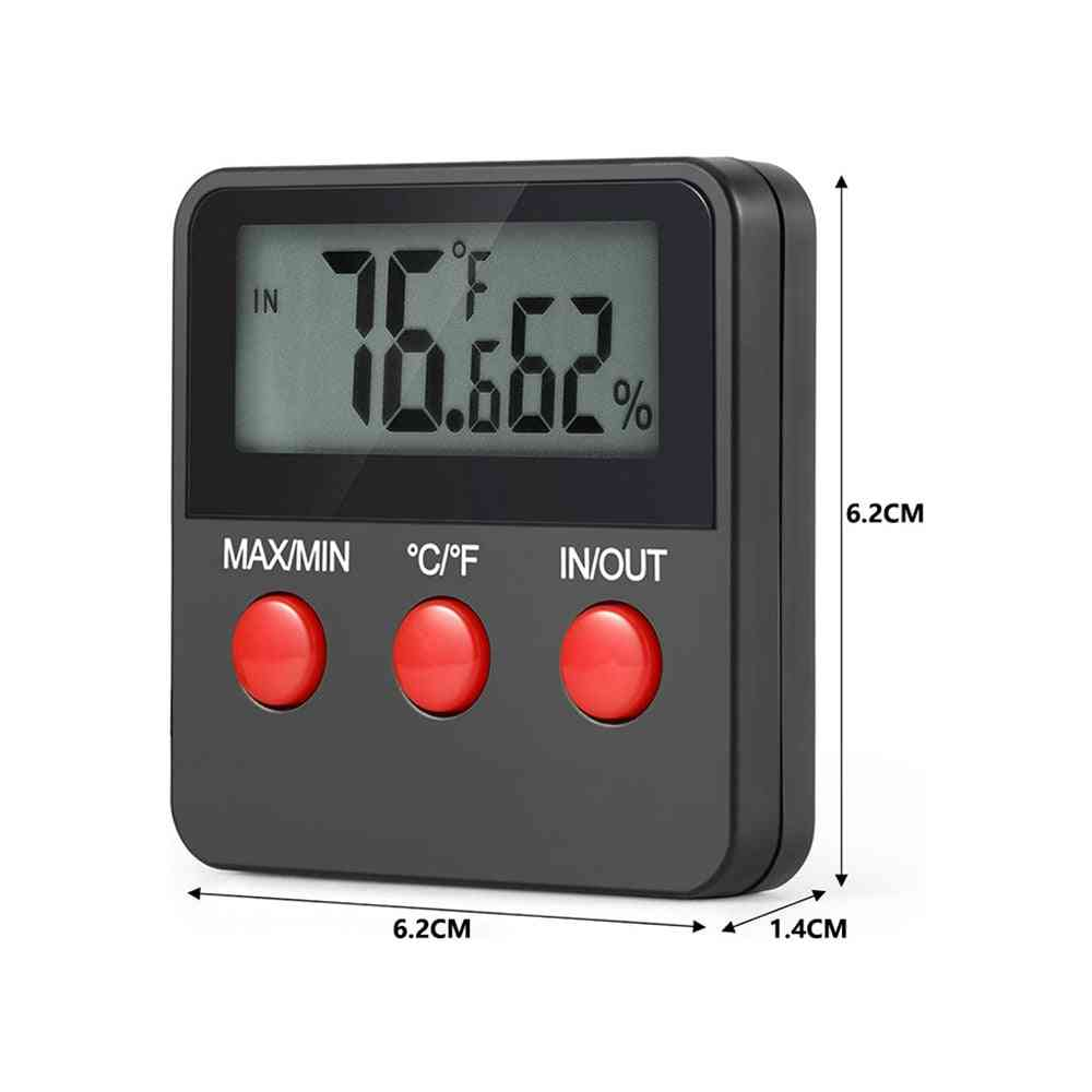 Digital Humidity Meter Lcd Thermometer Hygrometer Temp Humidity Monitor Tester