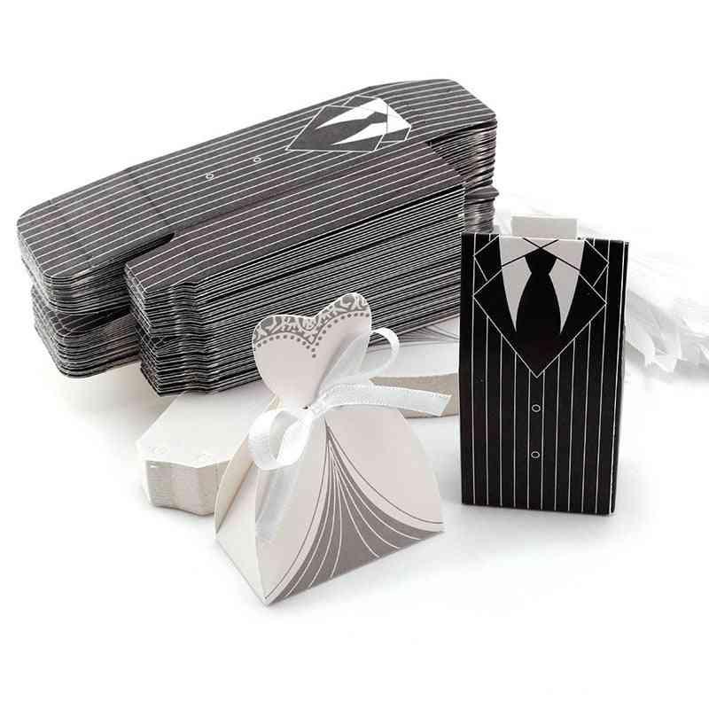 Bride And Groom Dresses Wedding Candy Bags Diy Favor Decoration
