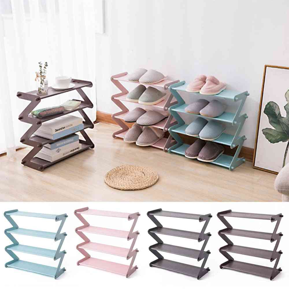 Stainless Steel Assembly Shoe Rack / Multi-layer Shoes Storage