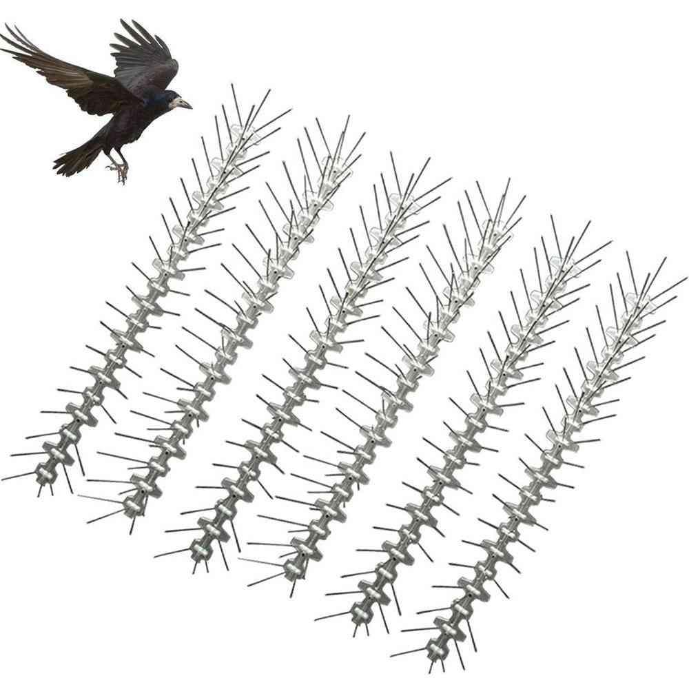 Bird Spikes Deterrent Anti Climb Wall Fence Bird-repeller Spike Strip Scarer