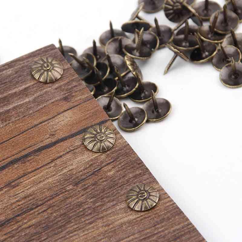 Brass Decorative Nails Tacks Applied Jewelry Box, Table Pushpins