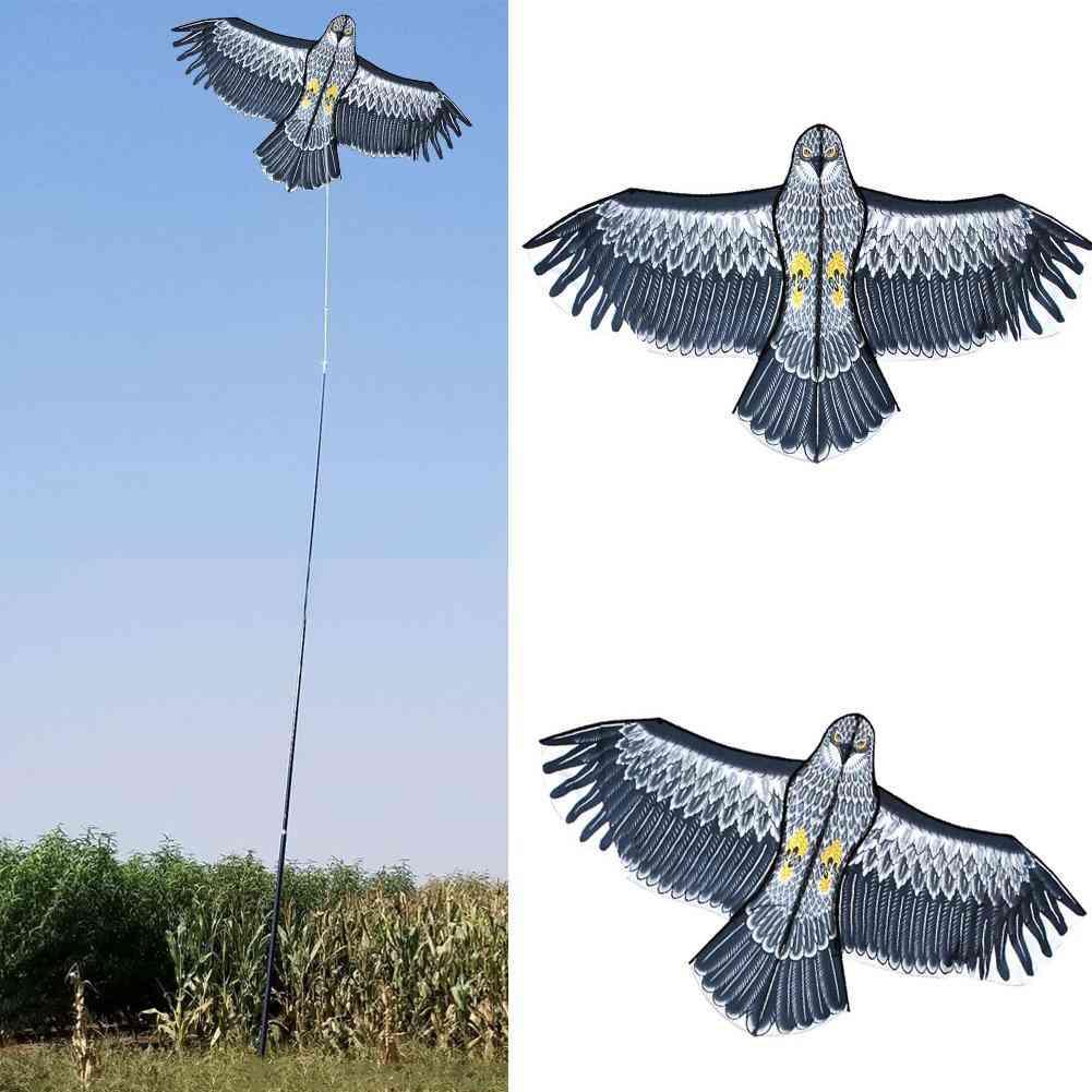 140x70cm Emulation Huge Eagle Kite Hawk Bird Scarer Bird Drive Kite Scarecrow Repellents Pest Control For Garden Yard Farm