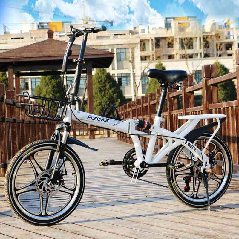 Foldable Bicycle - Ultralight 7 Speed Portable Bike For Students