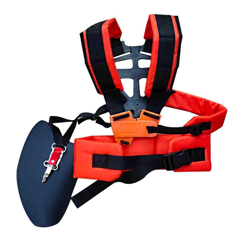 Double Shoulder W Shape Harness Strap Labor Saving Strimmer Padded Belt
