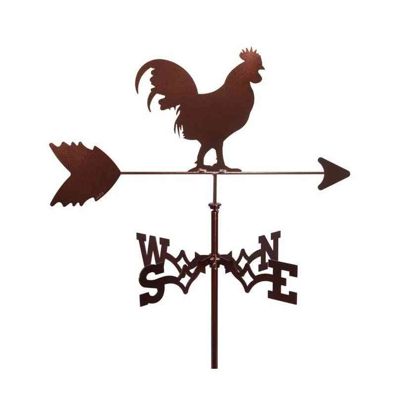 Creative Vintage Rooster Weather Vane Iron Cock Wind Speed Spinner