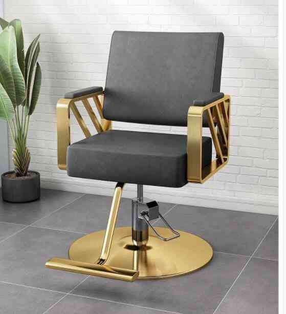 Barber Shop, Hair Salon, Chair, Hairdressing Shop, Stainless Steel Barber Chair, Stool, Rotary Lifting, And Downable Haircut Cha
